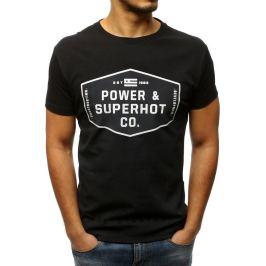 BASIC Pánské černé tričko s potiskem (rx3083) Velikost: M