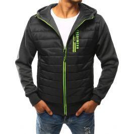 BASIC Šedá prošívaná bunda s kapucí  (tx1764) velikost: 2XL, odstíny barev: šedá