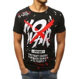 BASIC Pánské černé tričko s potiskem (rx3066) Velikost: M