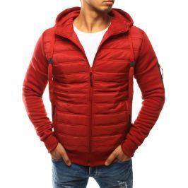 BASIC Pánská červená prošívaná bunda (tx1775) velikost: 2XL, odstíny barev: červená