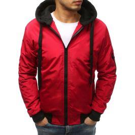 BASIC Pánská červená bunda s odnímatelnou kapucí (tx2544) Velikost: M