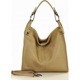MAZZINI Béžová shopper kabelka (s169e) Velikost: univerzální