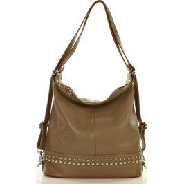 MAZZINI Khaki kabelka s ozdobnými cvočky (s193c) Velikost: univerzální