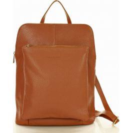 MAZZINI Hnědý kožený batoh (PL49b) Velikost: univerzální