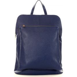 MAZZINI Modrý kožený batoh (Pl49c) Velikost: univerzální