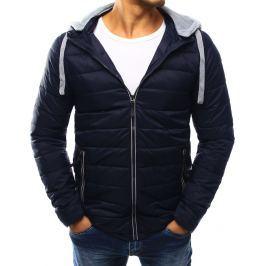 BASIC Modrá prošívaná bunda s kapucí (tx1787) velikost: 2XL, odstíny barev: modrá