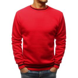 BASIC Pánská červená mikina přes hlavu (bx3809) Velikost: M