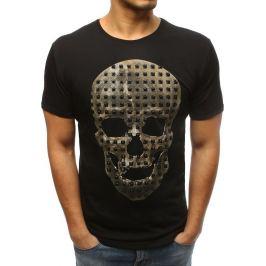 BASIC Pánské černé tričko s lebkou (rx3209) Velikost: S