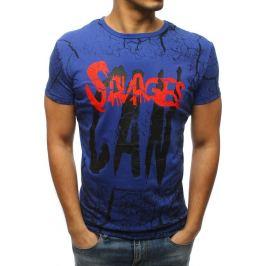 BASIC Pánské modré tričko s potiskem (rx3159) Velikost: S