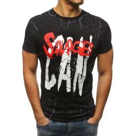 BASIC Pánské černé tričko s potiskem (rx3160) Velikost: S