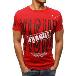 BASIC Pánské červené tričko s nápisem (rx3177) Velikost: S