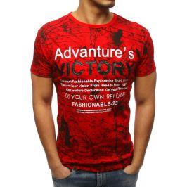 BASIC Pánské červené tričko s potiskem (rx3189) Velikost: S