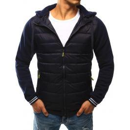 BASIC Prošívaná modrá bunda s kapucí  (tx1798) Velikost: 2XL