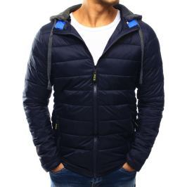 BASIC Modrá prošívaná bunda s kapucí (tx1800) velikost: 2XL, odstíny barev: modrá