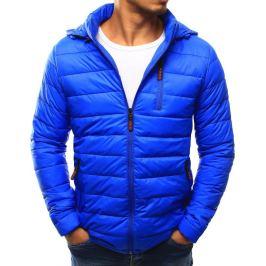 BASIC Modrá prošívaná bunda s kapucí (tx1813) Velikost: 2XL