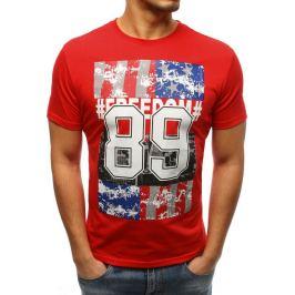 BASIC Červené pánské tričko s potiskem (rx3262) Velikost: M