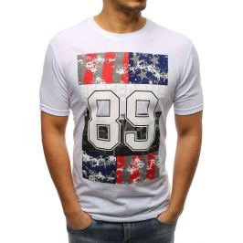BASIC Bílé pánské tričko s potiskem  (rx3264) Velikost: M