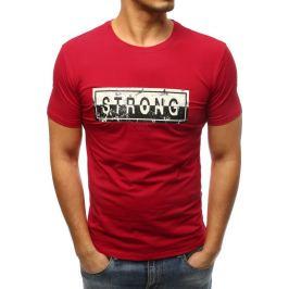 BASIC Červené tričko s potiskem Strong  (rx3288) Velikost: XL