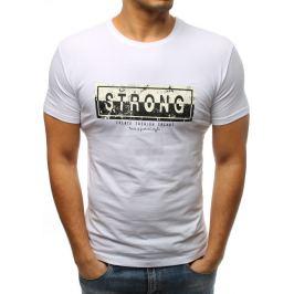 BASIC Bílé tričko s potiskem Strong (rx3290) Velikost: 2XL