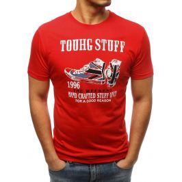 BASIC Červené pánské tričko s potiskem (rx3297) Velikost: M