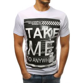 BASIC Bílé tričko s nápisem (rx3308) Velikost: M