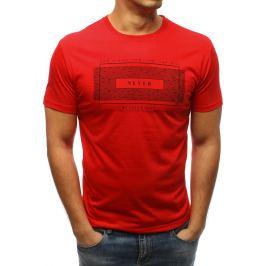 BASIC Červené pánské tričko s nápisem (rx3314) Velikost: M