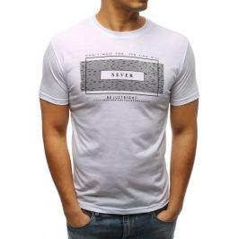 BASIC Bílé pánské tričko s nápisem (rx3316) Velikost: 2XL