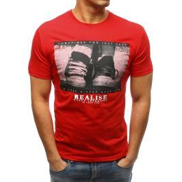 BASIC Červené tričko s krátkým rukávem a potiskem (rx3324) Velikost: 2XL
