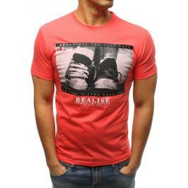 BASIC Oranžové tričko s krátkým rukávem a potiskem (rx3331) Velikost: 2XL