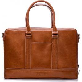 SOLIER Hnědá pánská kožená taška  ( SL02 VINTAGE BROWN) Velikost: univerzální