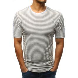 BASIC Šedé pruhované tričko (rx3192) Velikost: S