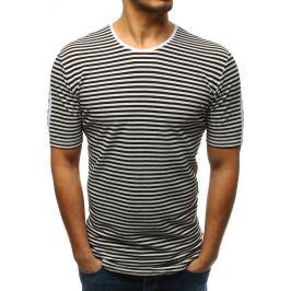 BASIC Černé pruhované tričko (rx3193) Velikost: S