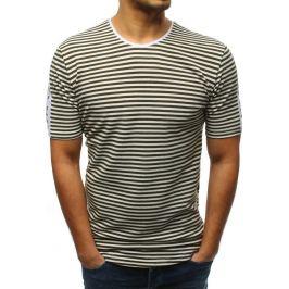 BASIC Tmavě zelené pruhované tričko (rx3195) Velikost: S