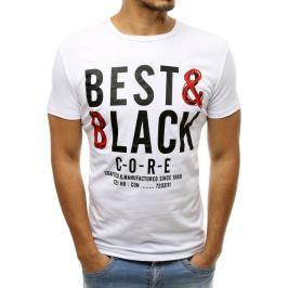BASIC Bílé tričko s potiskem (rx3237) Velikost: M