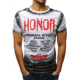 BASIC Bílé tričko s nápisem Honor (rx3243) Velikost: S