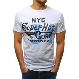 BASIC Bílé tričko s potiskem (rx3252) Velikost: M