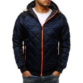 BASIC Granátová prošívaná bunda s oranžovým zipem (tx2599) Velikost: M