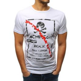 BASIC Bílé pánské tričko s potiskem(rx3210) Velikost: M