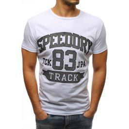 BASIC Bílé pánské tričko s potiskem (rx3222) Velikost: S