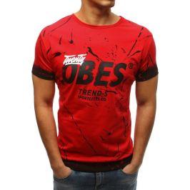 BASIC Červené pánské tričko s potiskem(rx3232) Velikost: S