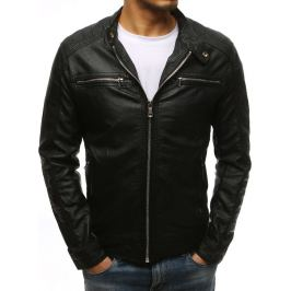 BASIC Černá pánská koženková bunda(tx1532) Velikost: M