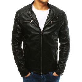 BASIC Černá pánská koženková bunda (tx2628) Velikost: M