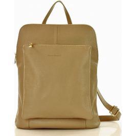 Béžový kožený batoh MAZZINI  (pl49e) Velikost: univerzální