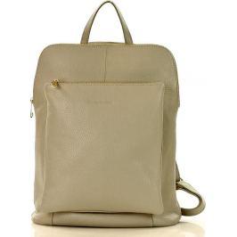 Šedý kožený batoh MAZZINI (pl49f) Velikost: univerzální
