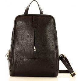MAZZINI Černý kožený batoh (pl30e) Velikost: univerzální