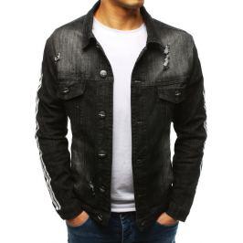 BASIC Černá pánská džínová bunda (tx2635) Velikost: L