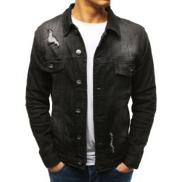 BASIC Černá pánská džínová bunda (tx2632) Velikost: L