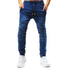 BASIC Modré pánské jogger kalhoty (ux1768) Velikost: M