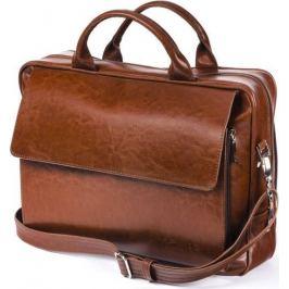 SOLIER Kožená hnědá taška na notebook (SL30 VINTAGE  BROWN) Velikost: univerzální