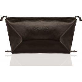SOLIER Kosmetická taška pro muže (SK01 DARK BROWN) Velikost: univerzální